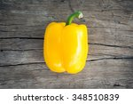 Yellow Sweet Bell Pepper On...
