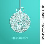 christmas card with hanging toy ...   Shutterstock .eps vector #348511184
