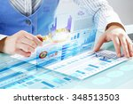 close up of business person... | Shutterstock . vector #348513503