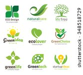 green and eco logo set | Shutterstock .eps vector #348518729