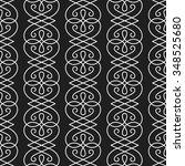 vector linear seamless pattern. ... | Shutterstock .eps vector #348525680