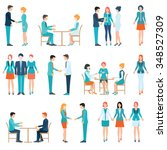 businessman and business woman... | Shutterstock .eps vector #348527309