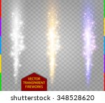 abstract firework set. vector... | Shutterstock .eps vector #348528620