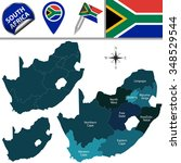 vector map of south africa with ... | Shutterstock .eps vector #348529544