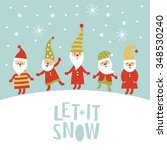 christmas card | Shutterstock .eps vector #348530240