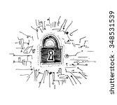 digital security. vector... | Shutterstock .eps vector #348531539