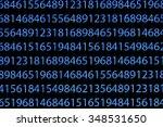 numbers on computer screen....   Shutterstock . vector #348531650