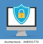 security systems graphic design ... | Shutterstock .eps vector #348531773