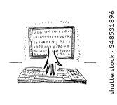 hacker attack. vector... | Shutterstock .eps vector #348531896