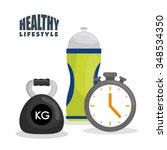 fitness and healthy lifestyle... | Shutterstock .eps vector #348534350