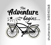 "vector poster ""the adventure...   Shutterstock .eps vector #348540368"