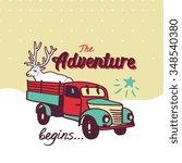 "vector poster ""the adventure... | Shutterstock .eps vector #348540380"