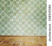 empty room interior   Shutterstock . vector #348545084