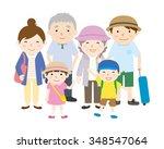 family trip   summer | Shutterstock .eps vector #348547064