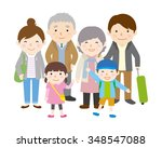 family trip   spring and autumn | Shutterstock .eps vector #348547088