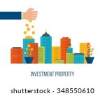 property investment. investment ... | Shutterstock .eps vector #348550610