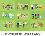 work team people job concept... | Shutterstock .eps vector #348551300
