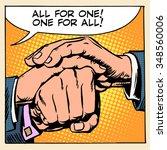 friendship solidarity one for...   Shutterstock .eps vector #348560006