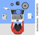 seo concept design  vector... | Shutterstock .eps vector #348568070