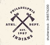 philadelphia indians grunge... | Shutterstock .eps vector #348576200