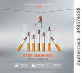 world no tobacco day concept... | Shutterstock .eps vector #348576338
