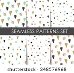 black  white and gold hearts...   Shutterstock .eps vector #348576968