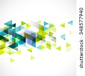 abstract colorful geometric... | Shutterstock .eps vector #348577940
