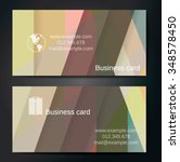 stylish business cards with... | Shutterstock .eps vector #348578450