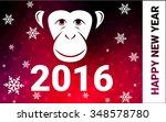 red monkey postcard low polygon ...