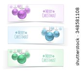 christmas and new year banners. ... | Shutterstock .eps vector #348581108