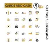 cards  cash  money  payment ... | Shutterstock .eps vector #348581579