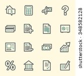 finance and banking icons | Shutterstock .eps vector #348582128