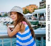 little beautiful girl near the...