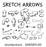sketchy arrows on white... | Shutterstock .eps vector #348589130