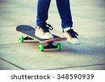 skateboarder skateboarding at... | Shutterstock . vector #348590939
