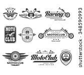 set of vintage motorcycle...   Shutterstock .eps vector #348590993