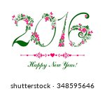 happy new year 2016.... | Shutterstock . vector #348595646