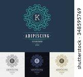 set luxury logos template... | Shutterstock .eps vector #348595769