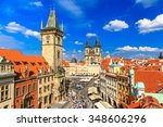 Prague Tyn Cathedral And Clock...
