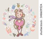 wonderful vector illustration... | Shutterstock .eps vector #348609524