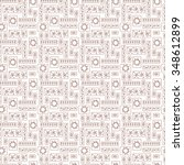 seamless pattern of different... | Shutterstock .eps vector #348612899