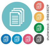 flat documents icon set on...