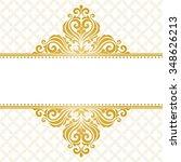 vintage greeting card. golden... | Shutterstock .eps vector #348626213