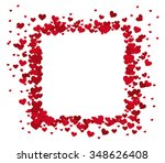 lovely frame with hearts | Shutterstock .eps vector #348626408