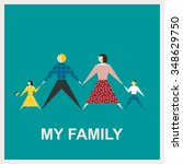 my family.vector flat... | Shutterstock .eps vector #348629750