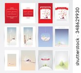 big christmas greeting cards...   Shutterstock .eps vector #348629930
