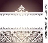 vector vintage elegant pattern.   Shutterstock .eps vector #348631493