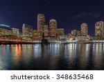 Stock photo city view of boston massachusetts usa 348635468