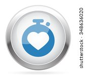 blue heart rate monitor icon on ... | Shutterstock .eps vector #348636020
