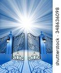 gate to light | Shutterstock . vector #348636098